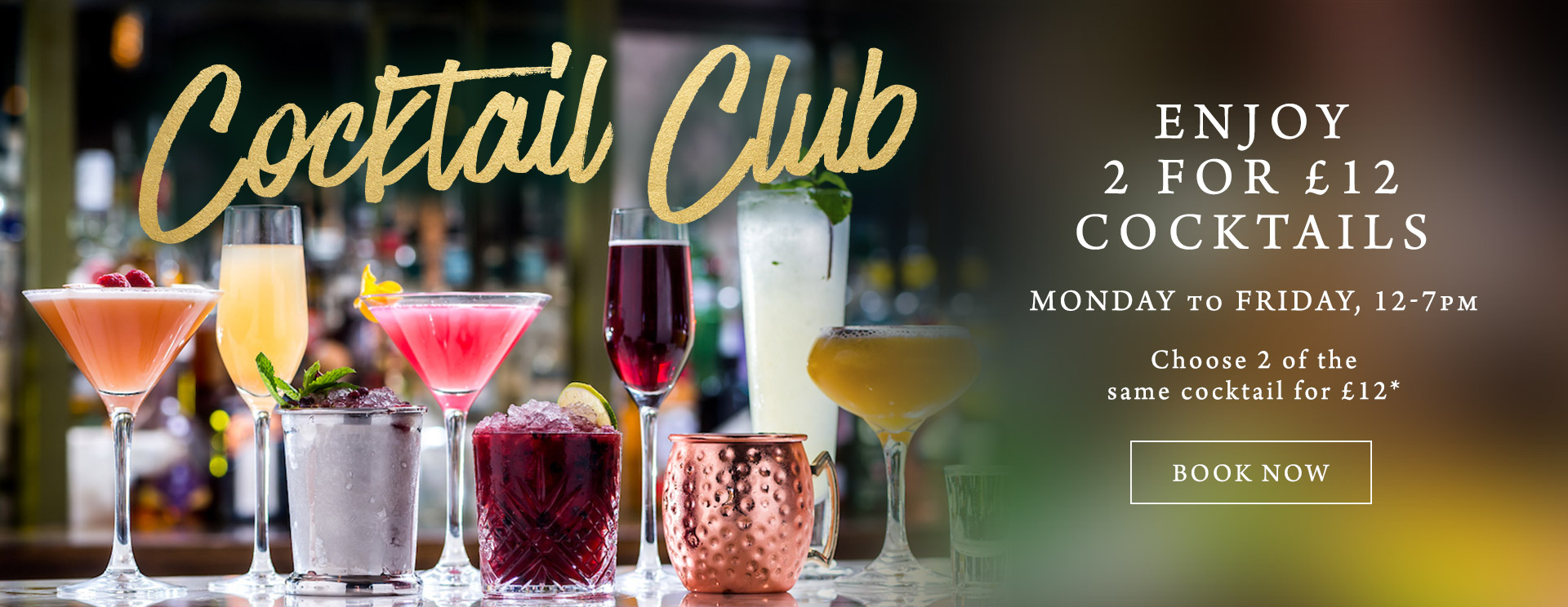 2 for £12 cocktails at The George & Dragon